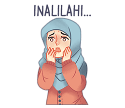 Expressive Hijab Girl sticker #10293507
