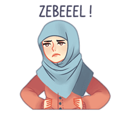 Expressive Hijab Girl sticker #10293510