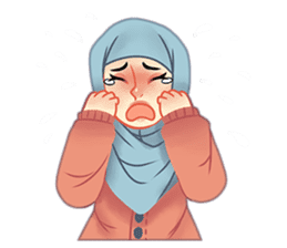 Expressive Hijab Girl sticker #10293516