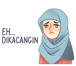Expressive Hijab Girl sticker #10293519