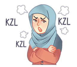 Expressive Hijab Girl sticker #10293520