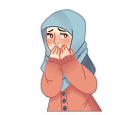 Expressive Hijab Girl sticker #10293526