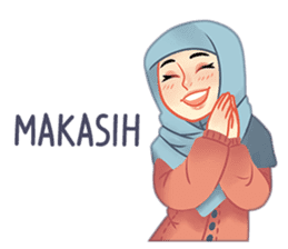 Expressive Hijab Girl sticker #10293527