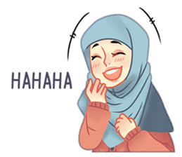 Expressive Hijab Girl sticker #10293528