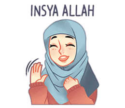 Expressive Hijab Girl sticker #10293532