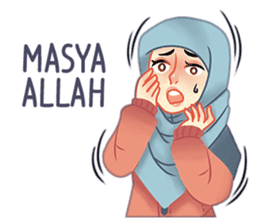 Expressive Hijab Girl sticker #10293533