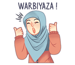 Expressive Hijab Girl sticker #10293535