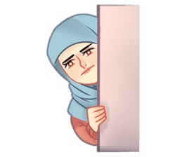 Expressive Hijab Girl sticker #10293536