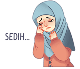 Expressive Hijab Girl sticker #10293540