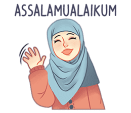 Expressive Hijab Girl sticker #10293542