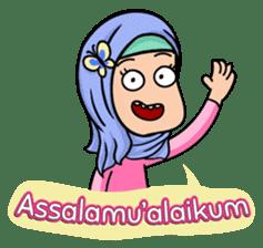 Funny Hijabi sticker #10302984