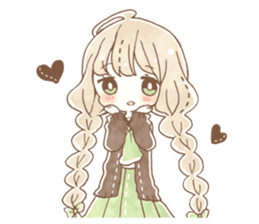 YURUFUWA girls sticker #10305666