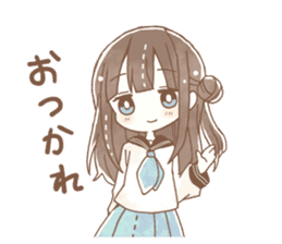 YURUFUWA girls sticker #10305667