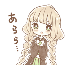 YURUFUWA girls sticker #10305674