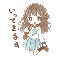 YURUFUWA girls sticker #10305675