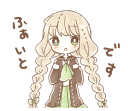 YURUFUWA girls sticker #10305678