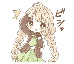 YURUFUWA girls sticker #10305682