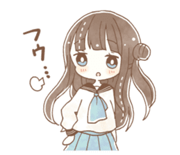 YURUFUWA girls sticker #10305683