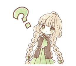 YURUFUWA girls sticker #10305686
