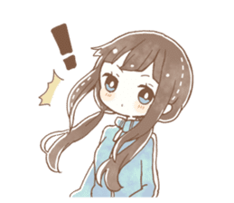 YURUFUWA girls sticker #10305691
