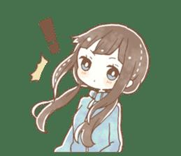 YURUFUWA girls sticker #10305691
