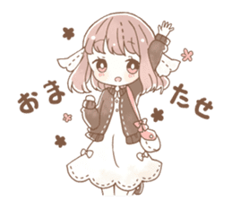 YURUFUWA girls sticker #10305692