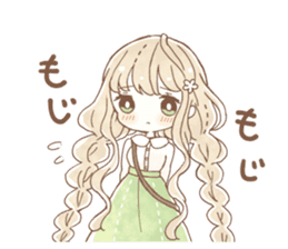 YURUFUWA girls sticker #10305694