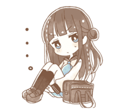 YURUFUWA girls sticker #10305699