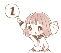 YURUFUWA girls sticker #10305700