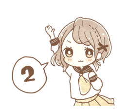 YURUFUWA girls sticker #10305701
