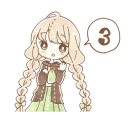 YURUFUWA girls sticker #10305702