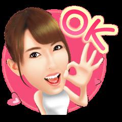 Yui Hatano Official Sticker!!!!