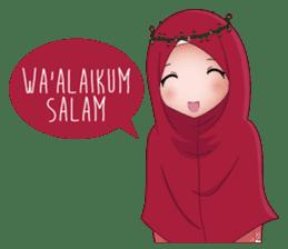 Kartun Muslimah sticker #10307825