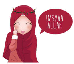 Kartun Muslimah sticker #10307827