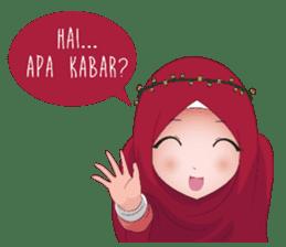 Kartun Muslimah sticker #10307848
