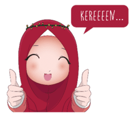 Kartun Muslimah sticker #10307857
