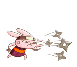 Ninja HANNARI chan(English) sticker #10309556