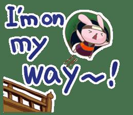 Ninja HANNARI chan(English) sticker #10309564