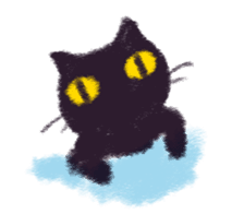 Little Black Cat Momo. sticker #10317105