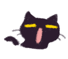 Little Black Cat Momo. sticker #10317106