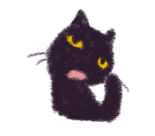 Little Black Cat Momo. sticker #10317107