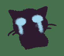 Little Black Cat Momo. sticker #10317109