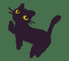 Little Black Cat Momo. sticker #10317112