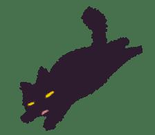 Little Black Cat Momo. sticker #10317115