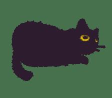 Little Black Cat Momo. sticker #10317120