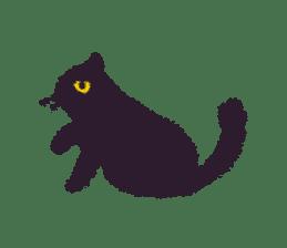 Little Black Cat Momo. sticker #10317134