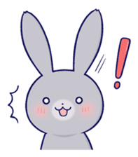 Lovey-dovey rabbit Gray rabbit ver 2 sticker #10317616