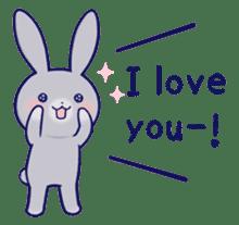 Lovey-dovey rabbit Gray rabbit ver 2 sticker #10317620