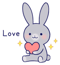 Lovey-dovey rabbit Gray rabbit ver 2 sticker #10317621