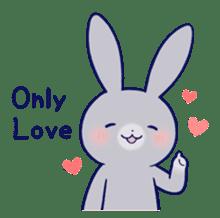 Lovey-dovey rabbit Gray rabbit ver 2 sticker #10317623